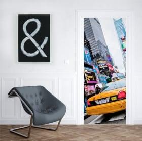 Vinyle pour les portes taxi New York