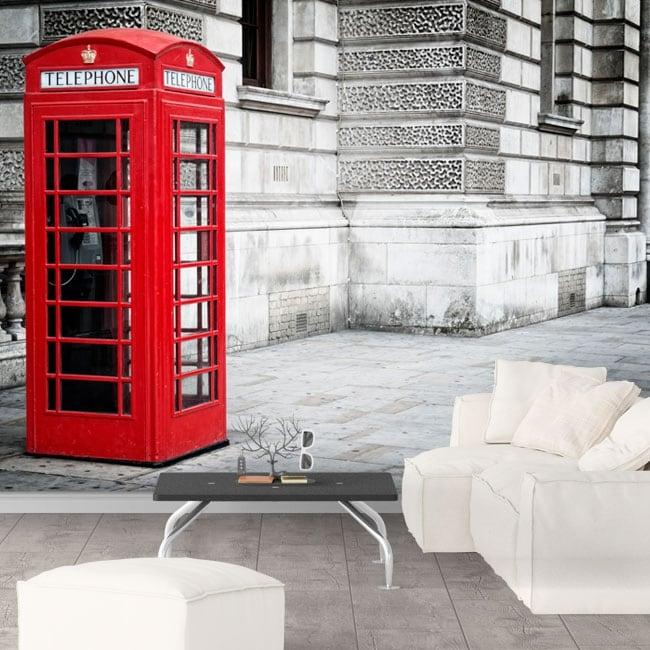 Papiers peints cabine téléphonique en Angleterre Londres