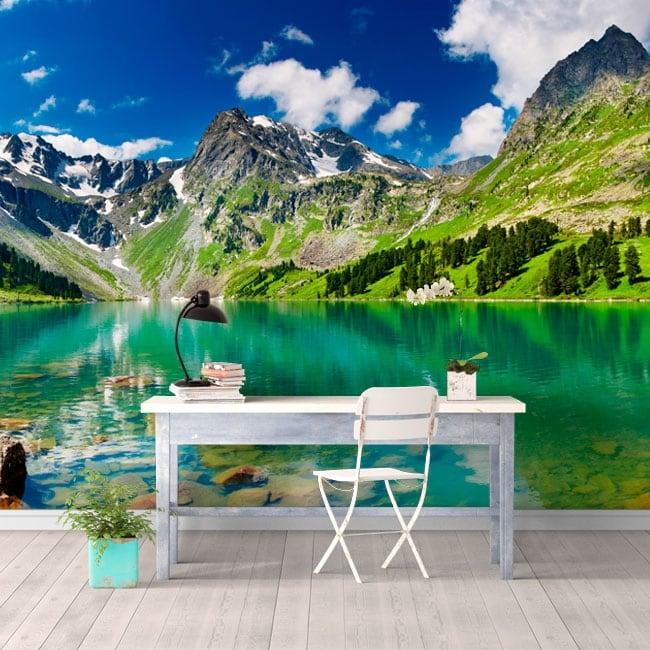 Papiers peints lac et montagnes