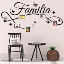 Vinyle décoratif photos de famille