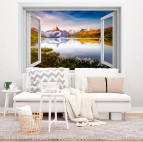 Vinyle décoratif lac Bachalpsee Alpes Suisses 3D