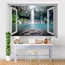 Vinyle cascades Ile de la Réunion 3D