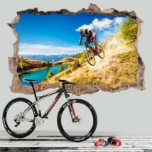 Vinyle décoratif vélo de montagne 3D