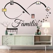Vinyle adhésifs infini photos de famille papillons