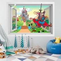 Vinyle pour enfants Prince et la Princesse 3D