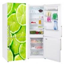 Vinyle de réfrigérateur citron en tranches