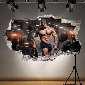 Vinyles pour les gymnases homme avec des poids 3D
