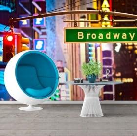 Papiers peints signal de Broadway New York 3D