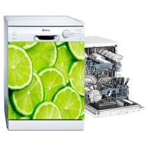 Vinyle citrons lave-vaisselle