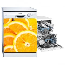 Vinyle vaisselle oranges