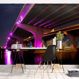 Papiers peints Miami pont Macarthur Causeway