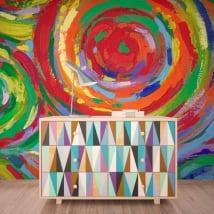 Papiers peints cercles de peinture