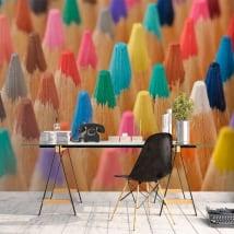 Papiers peints crayons de couleur