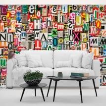 Papiers peints en vinyle collage de lettres