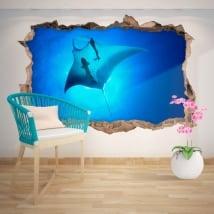 Vinyle décoratif Rayon Manta 3D