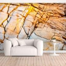 Papiers peints en vinyle rocher de la côte