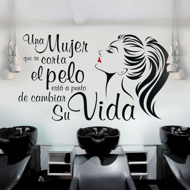 Vinyle coiffeurs phrase coco chanel