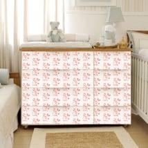 Vinyle décorer les meubles chambre de bébé