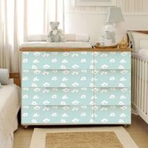 Vinyle décoratif bébés tiroirs