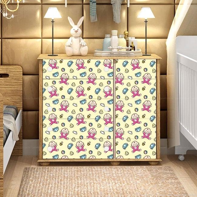 Vinyle et autocollants décorer des meubles de bébé