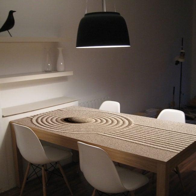 Vinyle pour tables pierres zen