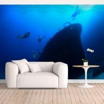 Papiers peints en vinyle sous-mariniers dans la mer