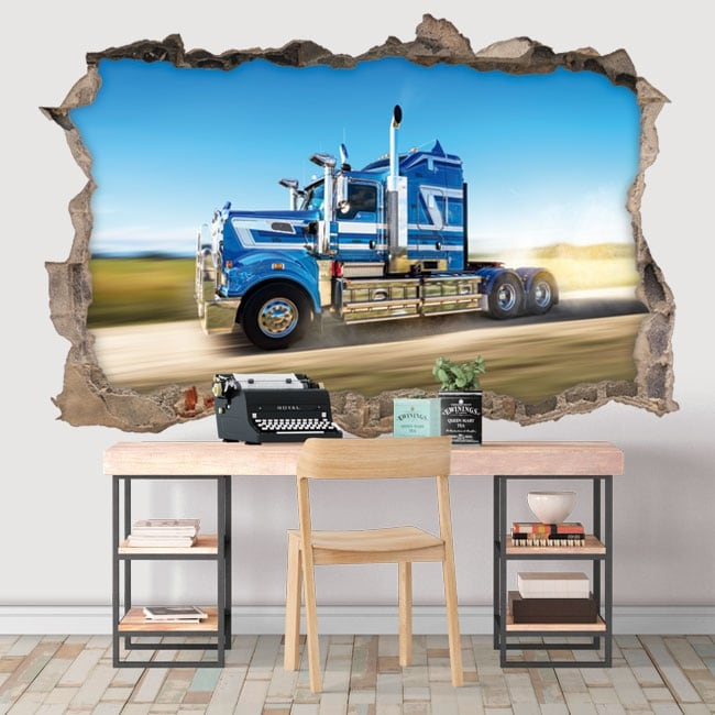 Vinyle décoratif murs camion 3d