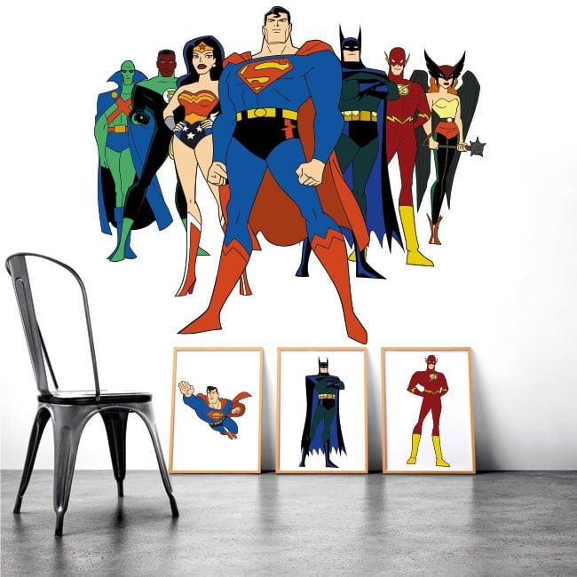 Stickers muraux super héros