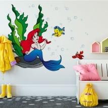 Vinyle décoratif murs la petite sirène
