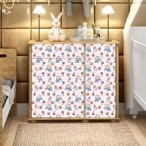 Vinyle adhésif décorer des meubles de bébé