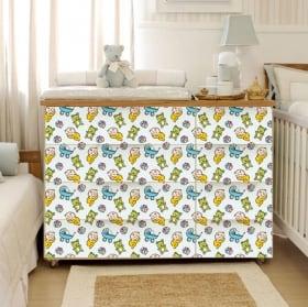 Vinyle décorer les chambres de meubles bébé