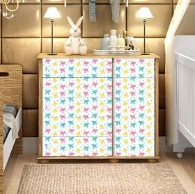 Stickers muraux pour les meubles de bébé