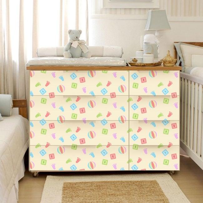 Vinyle pour les meubles chambres de bébé
