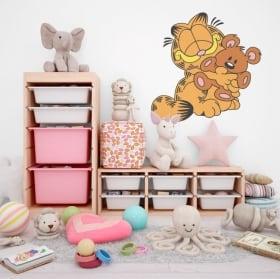 Vinyle pour enfants garfield et ours en peluche