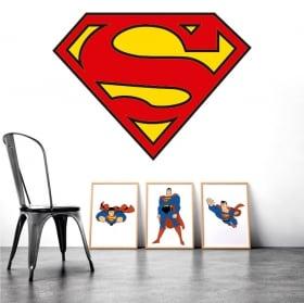 Stickers muraux logo de superman