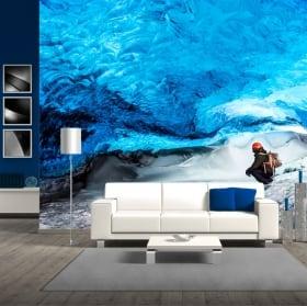 Papiers peints en vinyle glacier skaftafell