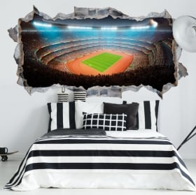 Vinyle décoratif stade football et athlétisme 3d