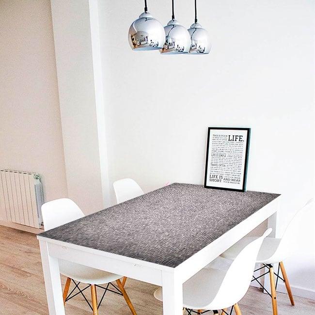 Vinyle décoratif tables collage de journaux