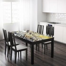 Vinyle pour tables et meubles collage