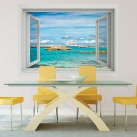 Vinyle murs croisière aux bahamas 3d