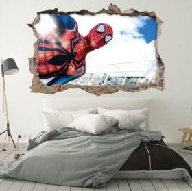 Vinyle décoratif murs spiderman 3d
