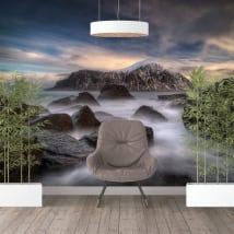 Papiers peints vinyles îles lofoten norvège