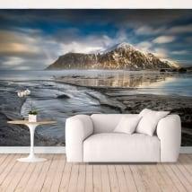 Peinture murale en vinyle îles lofoten norvège