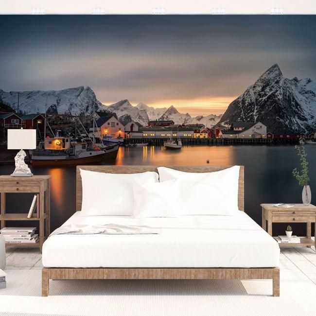 Murales de paroi îles lofoten norvège