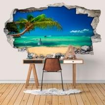 Vinyle murs plages république dominicaine 3d