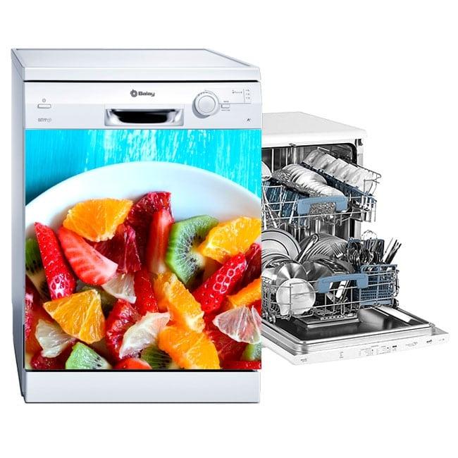 Vinyle vaisselle fruits sur la plaque