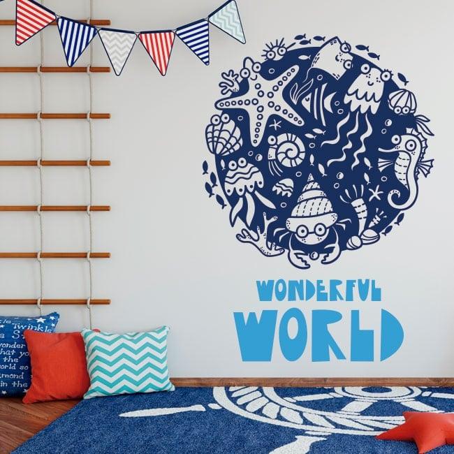 Vinyle pour enfants monde merveilleux