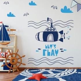 Vinyle pour enfants sous-marin jouons