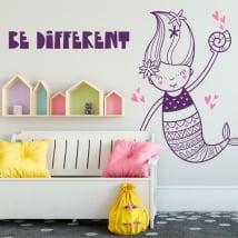 Vinyle décoratif murs sirène être différent