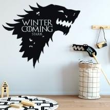 Vinyle murs game of thrones l'hiver arrive sévère